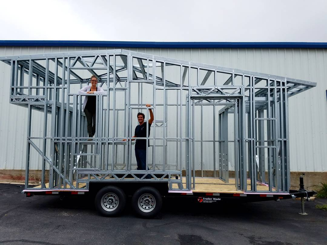 Steel tiny house frames for Steel frame home designs