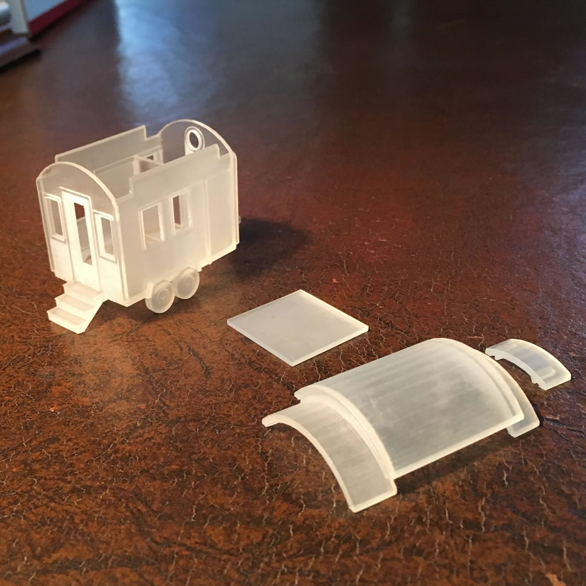 This Miniature Comes Apart Into 4 Pieces For Easy Access To The Interior.  There Is No Furniture Inside.