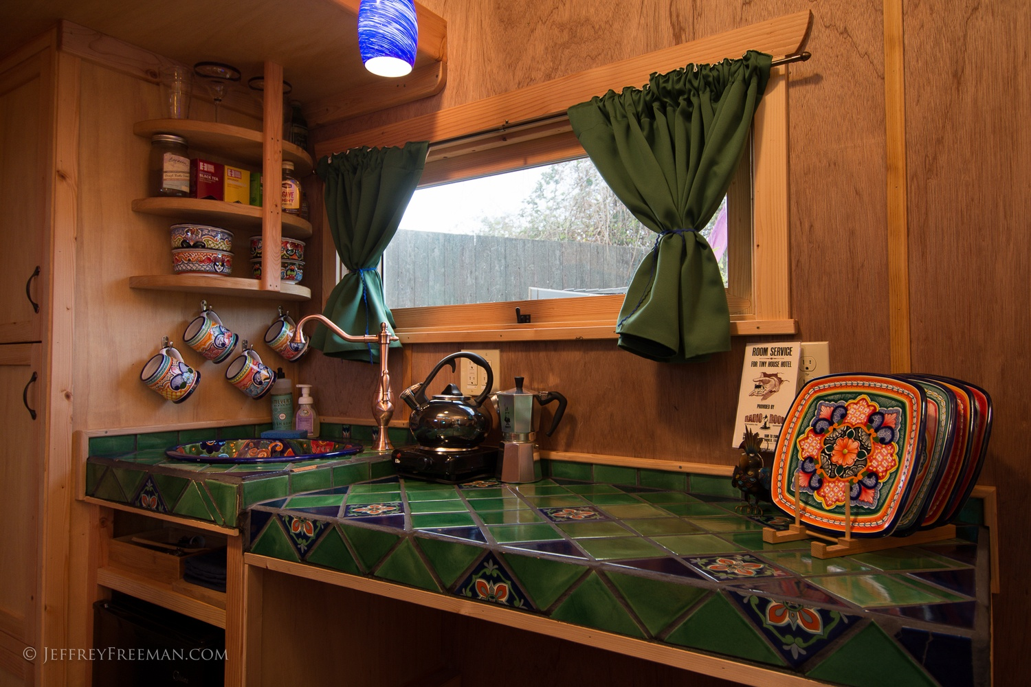 Kitchen Detail - Pacifica by Zyl Vardos at the Tiny House Hotel