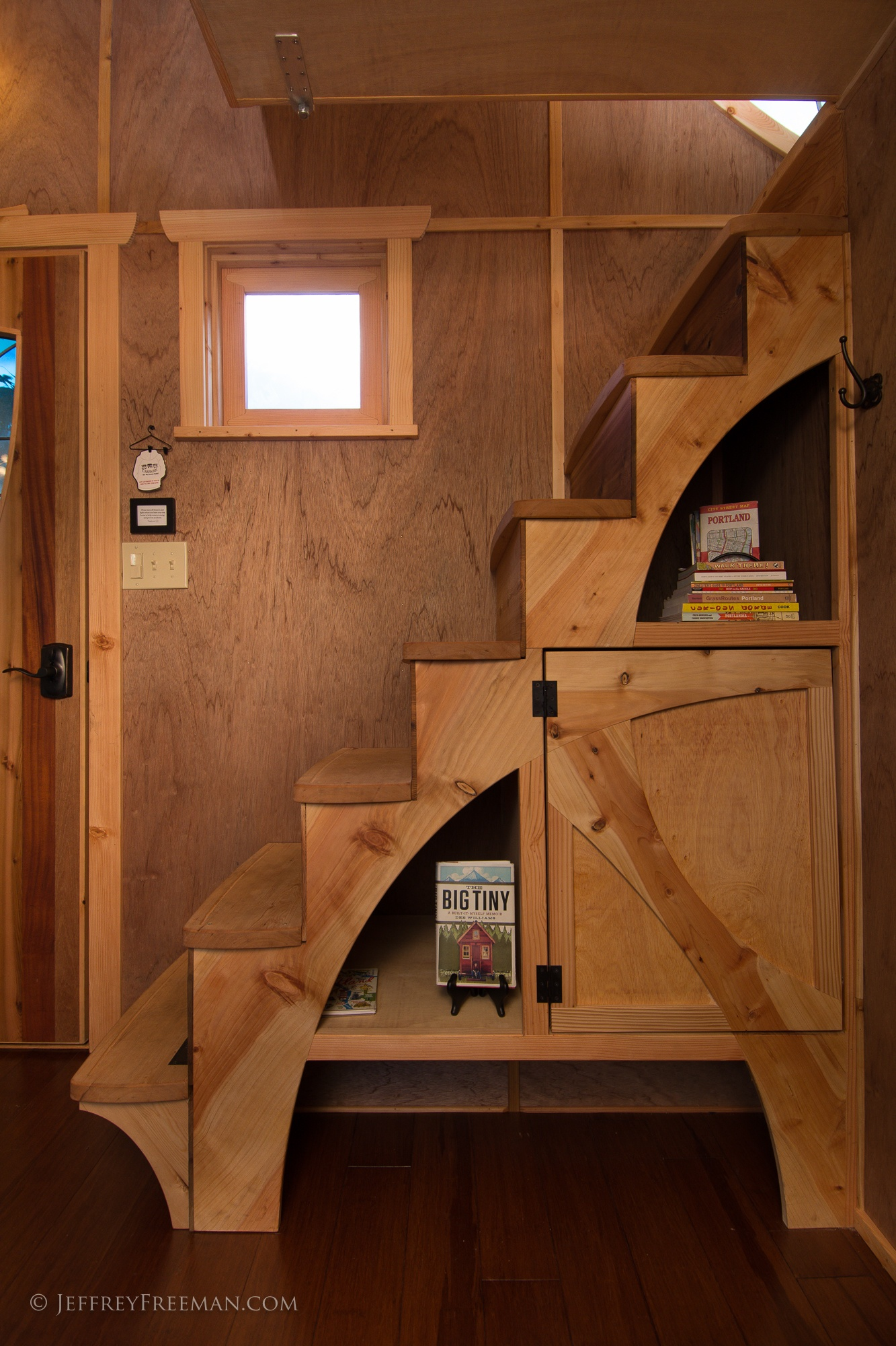 Whimsical Stairs - Pacifica by Zyl Vardos at the Tiny House Hotel