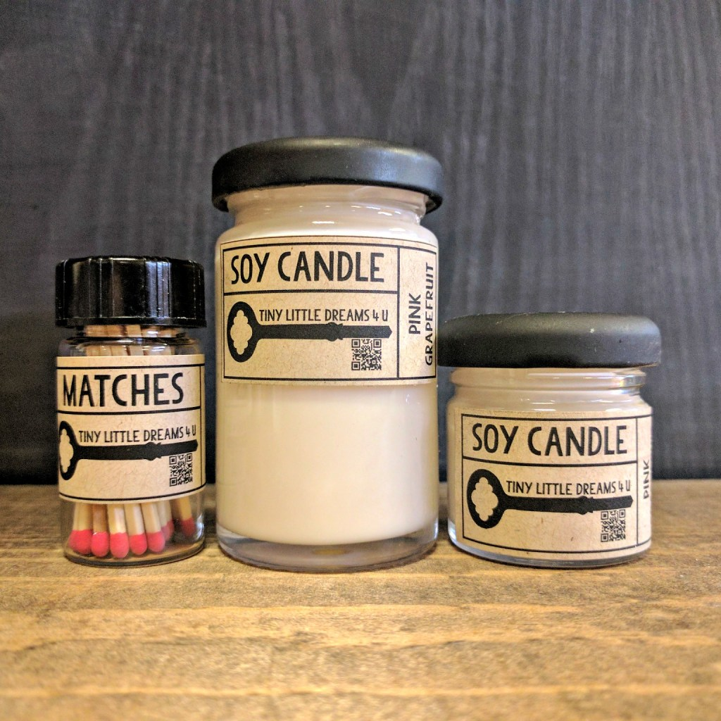 mini candles and matches