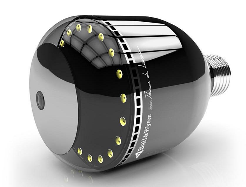 bell wyson pr sente une ampoule cam ra hyper design. Black Bedroom Furniture Sets. Home Design Ideas