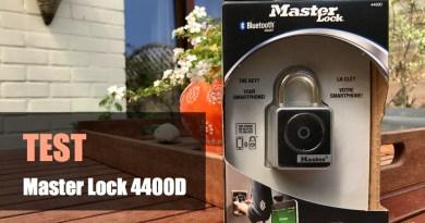 TEST – Master Lock 4400D, un sympathique cadenas connecté