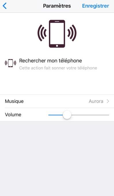paramètrage recherche téléphone