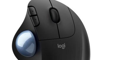 Logitech Trackball ERGO M575 : confort et économie d'espace avec un nouveau trackball sculpté ergonomique