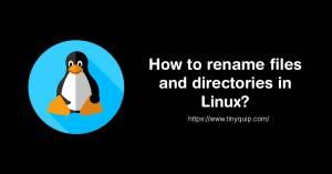 renaming files in linux