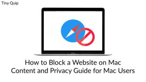 how to block a website on mac
