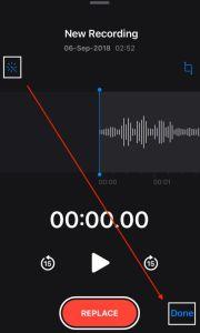 Voice memo on iPhone