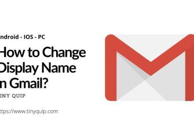 gmail name change display