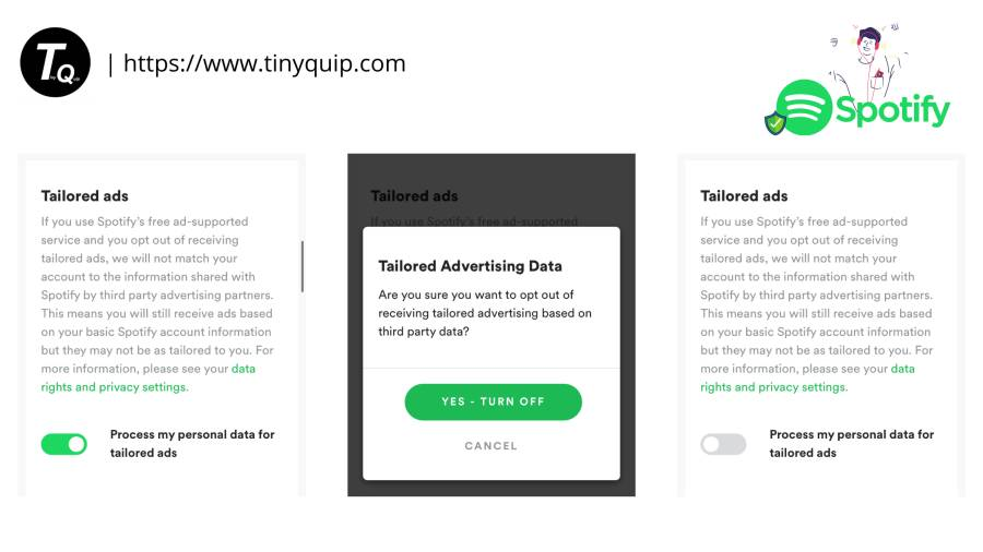 spotify tailored ads