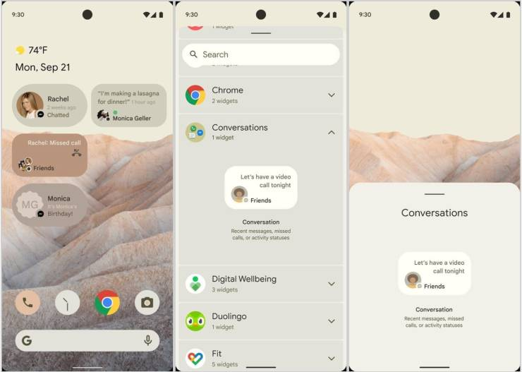 android 12 beta update features