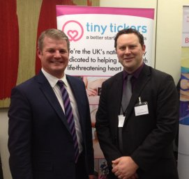 Jon with the chair of the APPG, Stuart Andrew MP