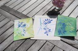 Wysteria leaf prints