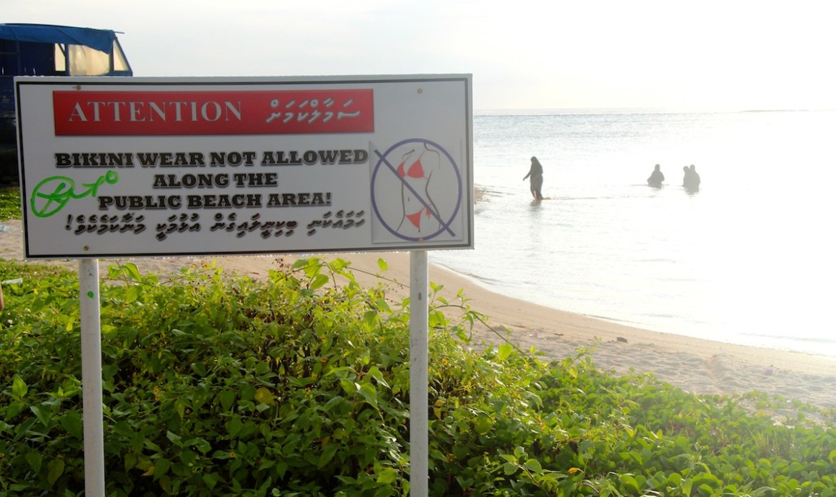 No bikinis allowed