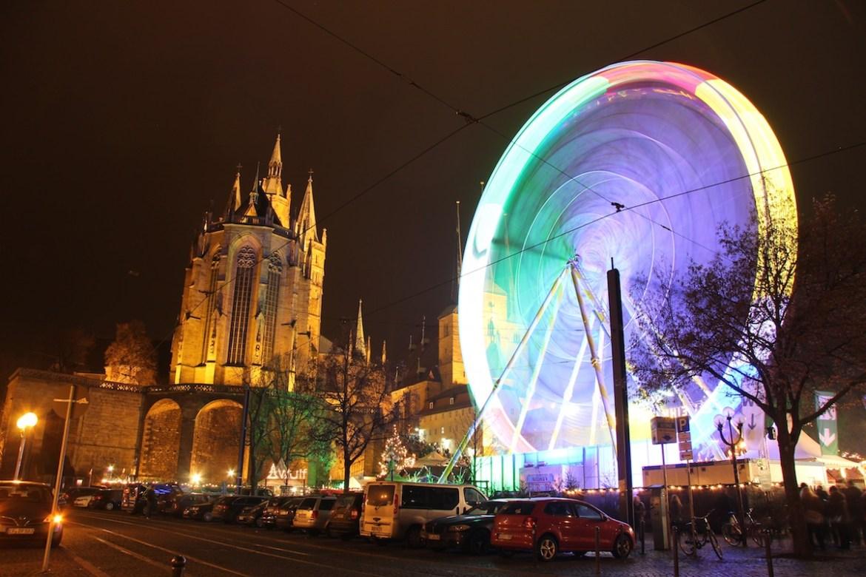 Ferris Wheel in a Christmas Market in Erfurt