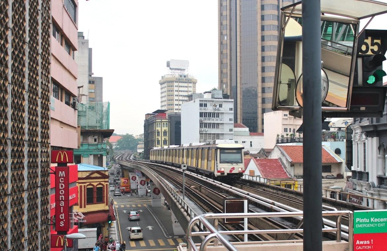 kl city landscape from LRT