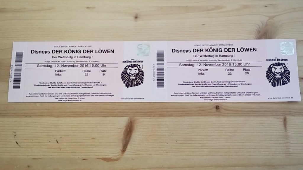 lion king tickets-der koenig der loewen