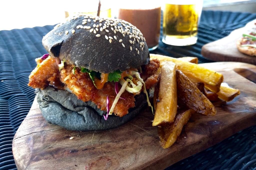 chicken katsu burger mowies gili air