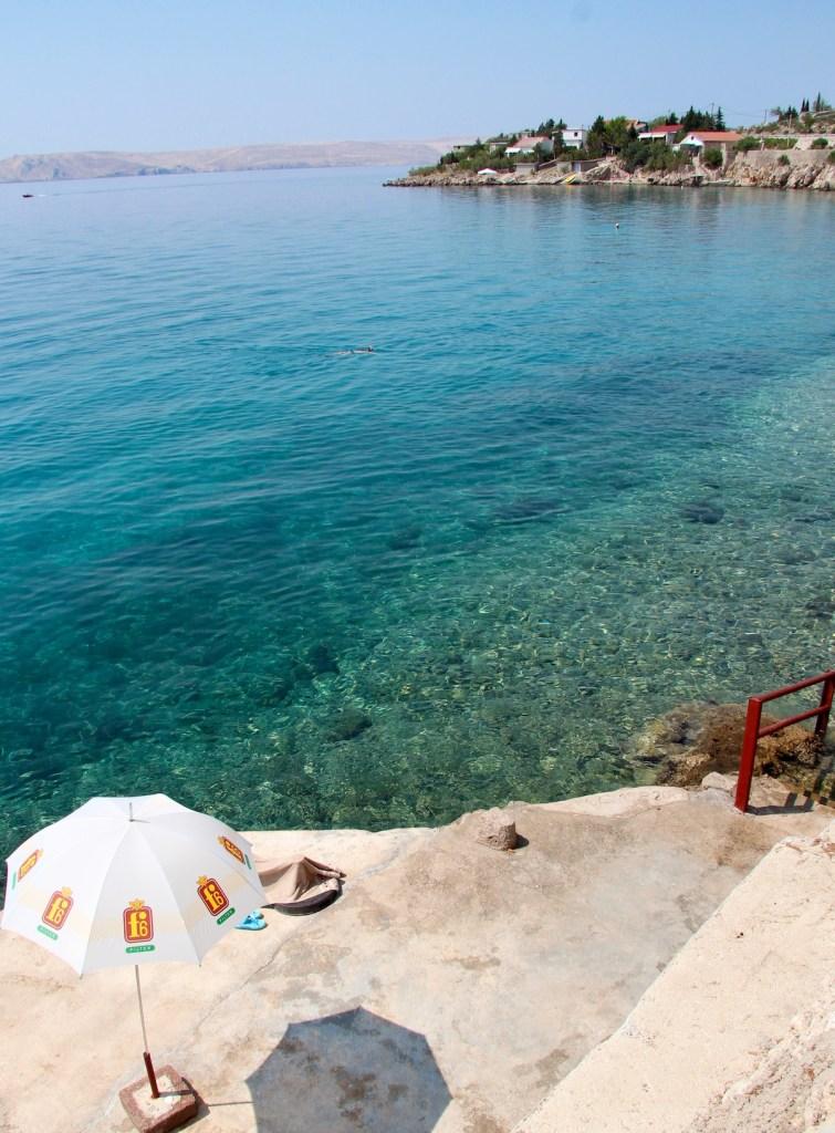 private beach Lukovo Šugarje Croatia Adriatic Sea