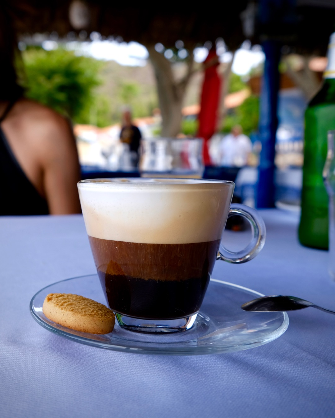Interesting Cappuccino at Five Steps In The Sand Taverna, Sikia, Sithonia, Greece