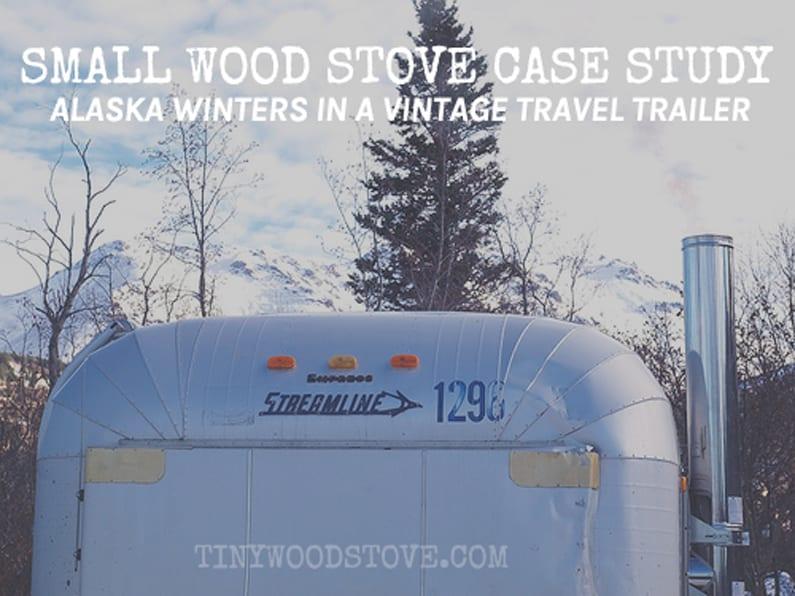 alaska winters in vitage travel trailer