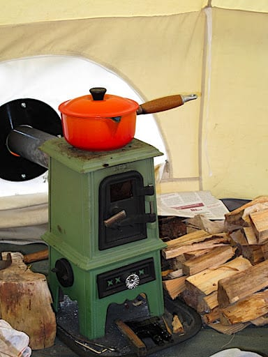 pipsqueak in canvas tent & TINY STOVE: The Pipsqueak | Tiny Wood Stove