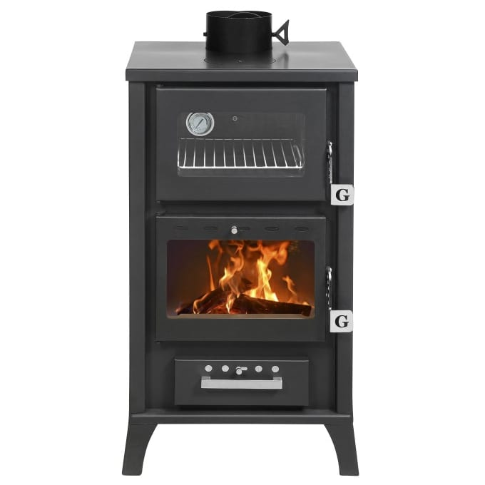 Gentil Small Wood Cookstove Black