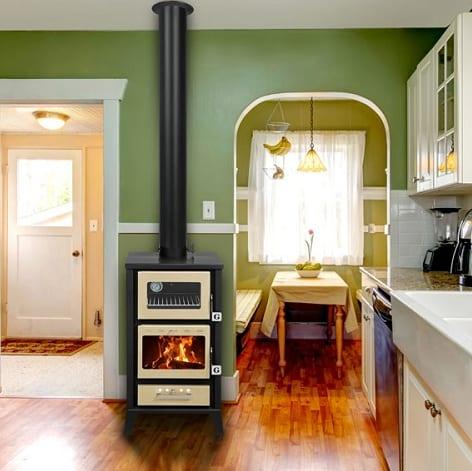 Merveilleux Small Wood Cookstove Kitchen