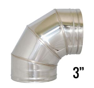 3 inch flue pipe 90 degree