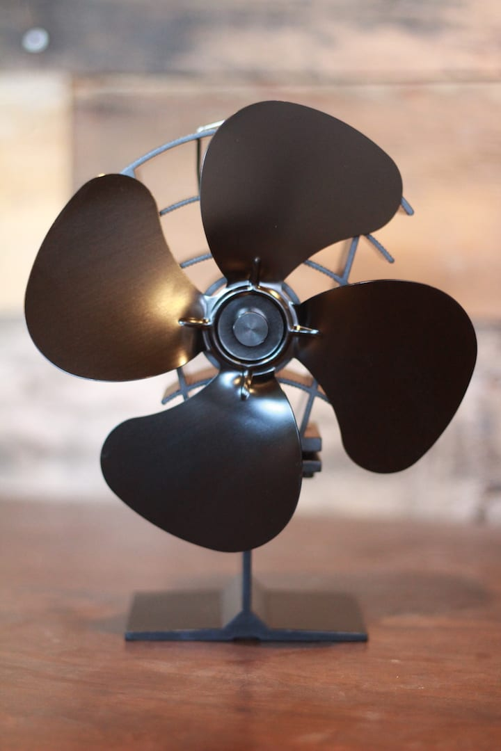 Heat Powered Stove Fan 180cfm Tiny Wood Stove