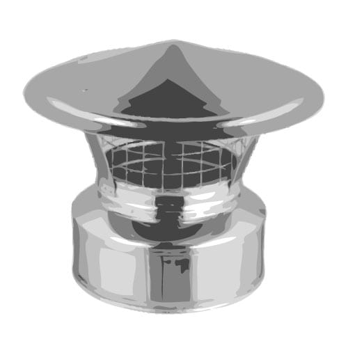 3 Stainless Steel Roof Vent Tiny Wood Stove