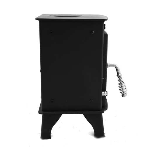 Dwarf 3kW Small Wood Stove Left Side