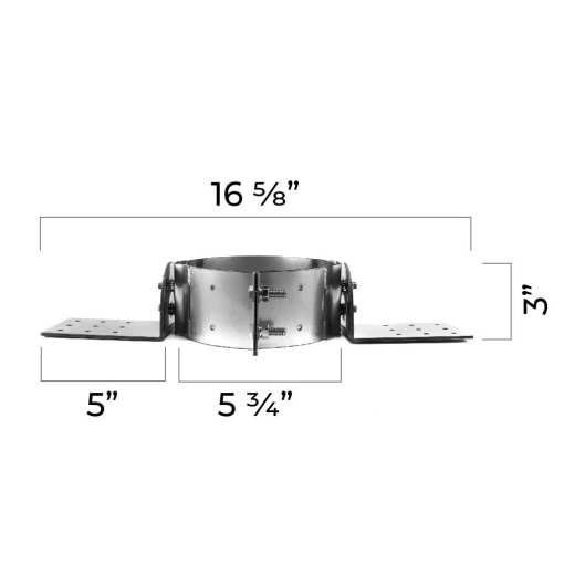 4 inch roof support bracket dimensions side