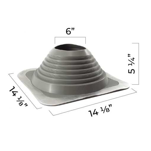 6 to 11 inch pipe boot dimensions