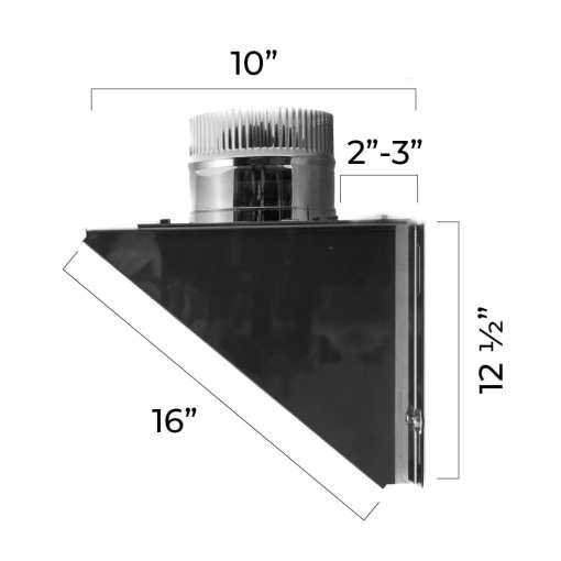 4 inch tee support bracket dimensions
