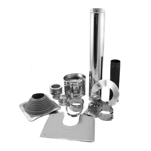 4 inch Tiny House Roof Exit Kit for Installing Wood Stoves