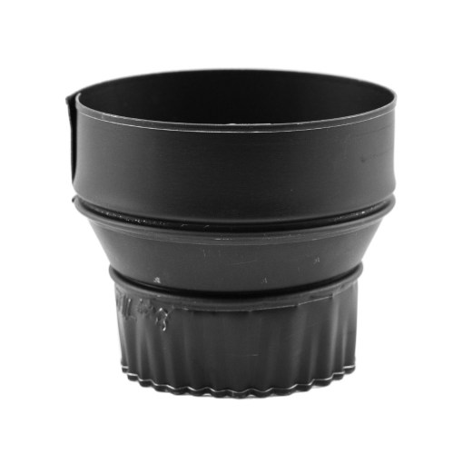 Gray Pipe 5x4 Inch Stovepipe Adapter