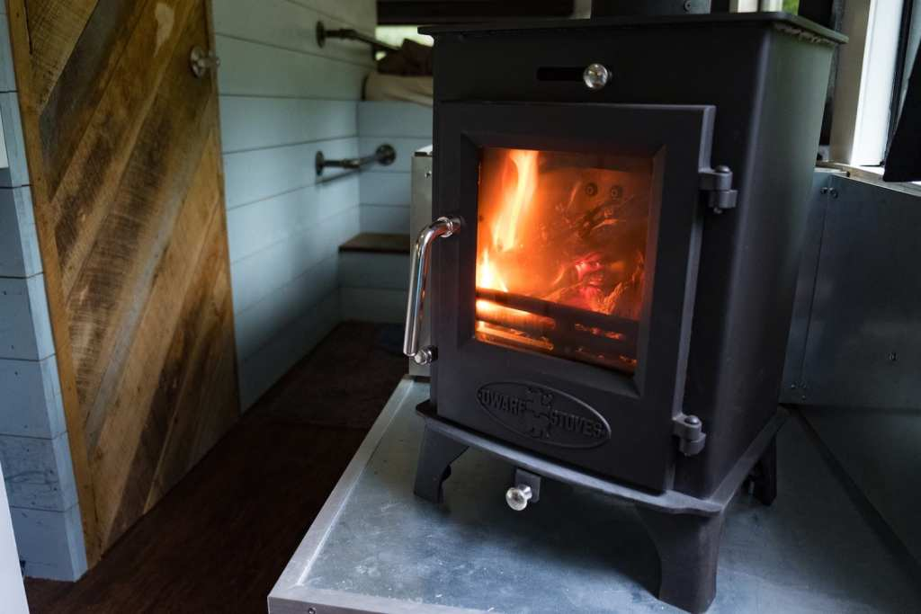 First indoor skoolie burn.