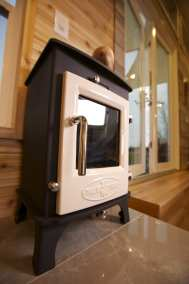 Dwarf 4kw with sand color enameled door.