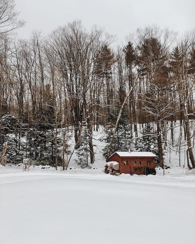 Vermont based homestead snowed in.