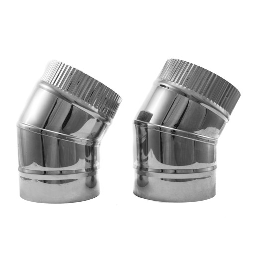 4 inch double-wall insulated class A 30 degree elbow