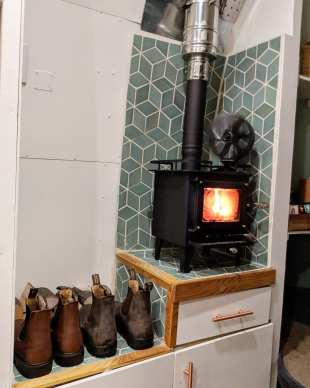 Cubic Mini with Tiny Wood Stove Flue Kit