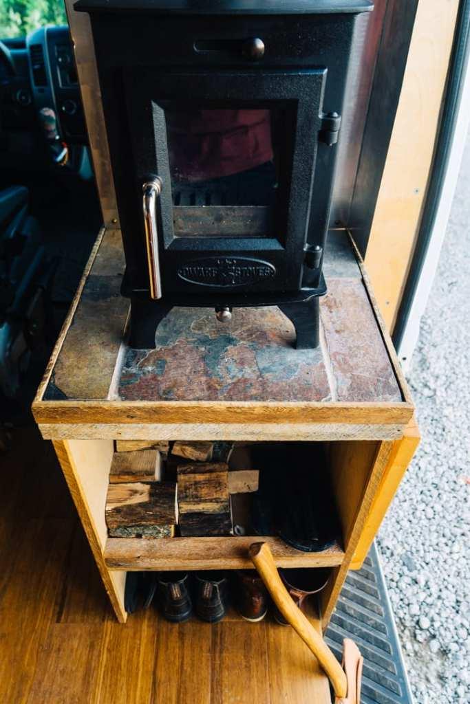 Wood Stove Hearth Inside Sliding Door