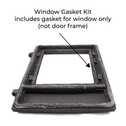 Dwarf Stove Window Gasket Kit Installed