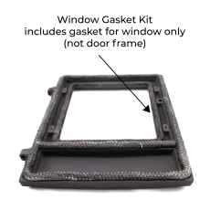 Dwarf Stove Window Gasket Kit Installed