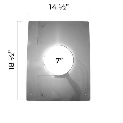 5 Inch Interior Trim Plate Collapsed Dimensions