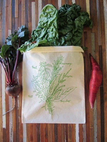 Herb Bunch Reusable Produce Bag