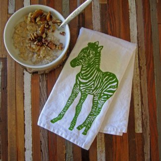 zebra cloth napkin