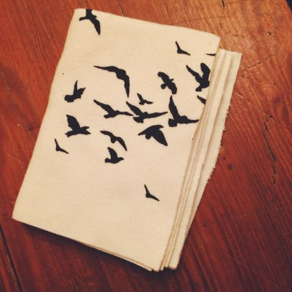 Organic Handkerchief Book Birds