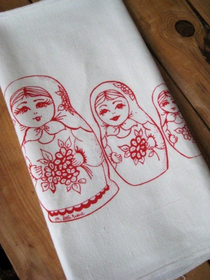 Nesting Dolls Cloth Napkin